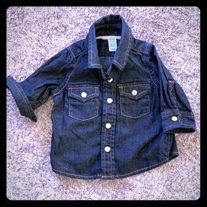 Baby Gap 1969 Dark Denim Infant Button-Down Shirt